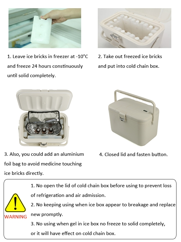 12L Vaccine Cold Chain Equipment Medical Transport Cooler Box