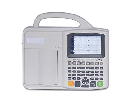 Digital Portable 6 Channel 12 Lead ECG Machine