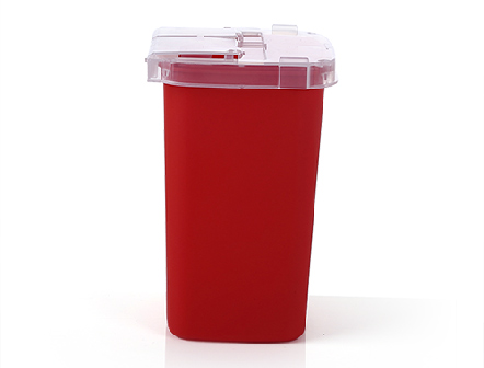 Disposable Hospital Medical Needle Waste Box 1L Plastic Sharps Container