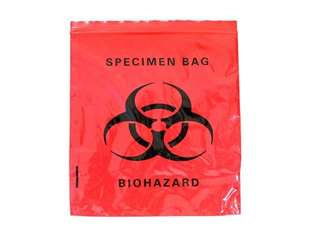 Disposable Medical Plastic Biohazard Specimen Bag