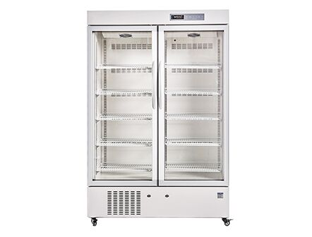 656L Upright Type Hospital Medicine Pharmacy Refrigerator with Double Glass Door