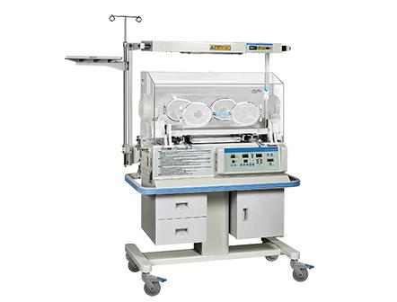 Medical Infant Incubator Configured with Fixed Neonate Bilirubin Phototherapy Equipment