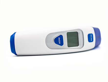 Digital Infrared Ear Thermometer with LCD Backlight for Human Body Temperature Testing
