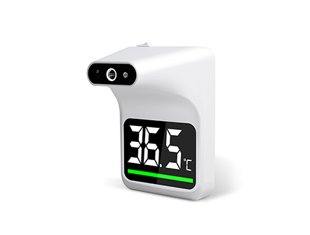 Large LCD Display Hands Free Wall Mounted Infrared Thermometer