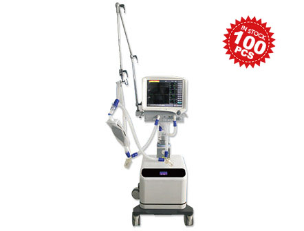 Mobile 15 Inch TFT LCD Touch Screen ICU Ventilator for adult and pediatric in Stock