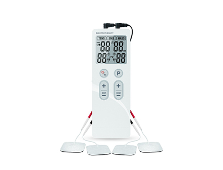 TENS Muscle Electrotherapy Device with 4 Electrode Pads for Pain Relief