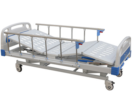 Three Crank Manual Hospital Bed Price