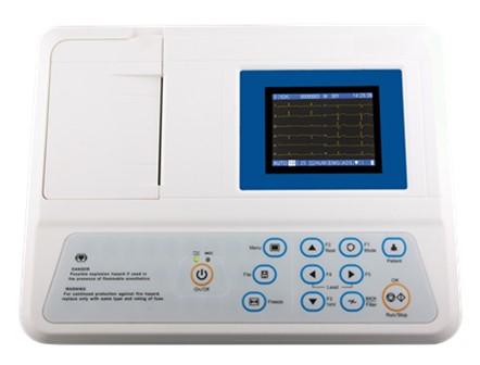 Portable Three Channel ECG Machine