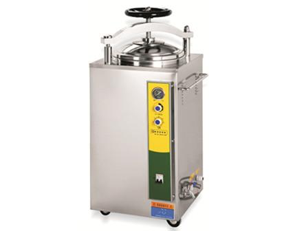vertical pressure steam sterilizer with hand round automatic