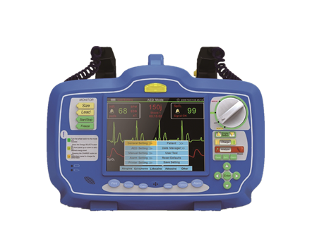 Portable Biphasic aed Defibrillator Monitor for first aid